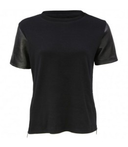 black-leather-sleeve-round-neck-t-shirt-karma-front_2